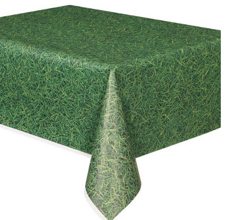 Grass plastic table cloth