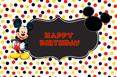 Mickey Mouse party vinyl backdrop