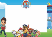 Paw patrol photobooth frame