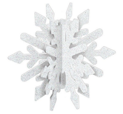 Frozen party snowflake centrepiece