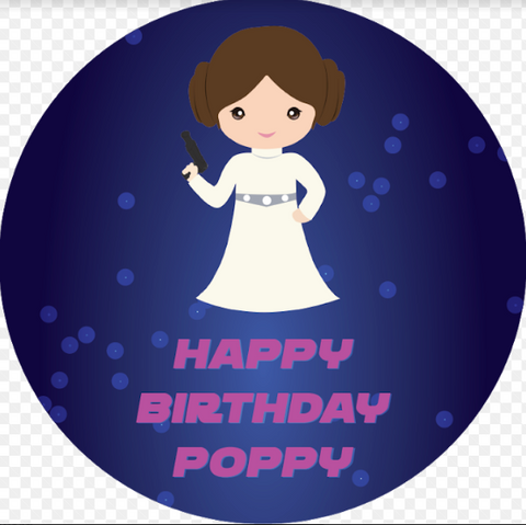 Princess Leia personalised stickers