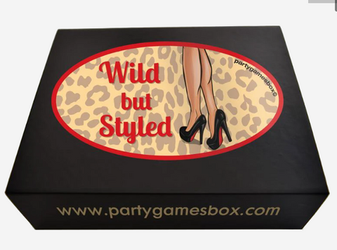 Hens party games box wild but styled