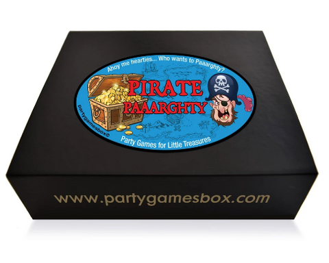 Pirate kids party games box
