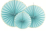 Blue party honeycomb fans