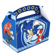 Sonic the hedgehog themed gift boxes