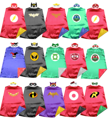 Superhero capes and masks