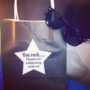 Rockstar party supplies personalised rockstar gift bags