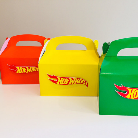 Hot Wheels party gift boxes
