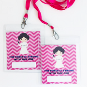Princess Leia personalised party lanyards
