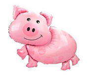 Farmyard party pig balloon