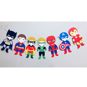 Superhero handmade party bunting