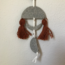 Load image into Gallery viewer, Moon Clay Yarn Wall Hanging with Macrame Ring--Custom