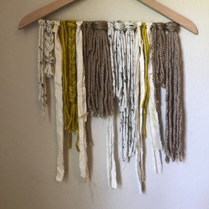 Multicolor Yarn Ribbon Wall Hanging: Unfettered Chaos