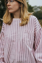 Load image into Gallery viewer, Ga-linda: A Pastel Pink Striped Crewneck