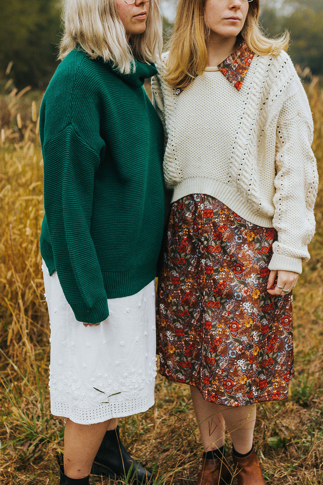 Granny Smith: A Cream Oversized Semi-Cropped Knit Sweater