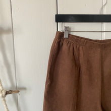 Load image into Gallery viewer, Brown High Waisted  Corduroy Textured Pants