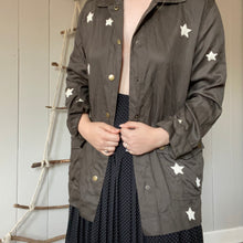 Load image into Gallery viewer, Army Green Star Print Jacket