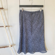 Load image into Gallery viewer, Cheetah Girls, Cheetah Sisters: A Gray Animal Print Drawstring Knee Length Skirt