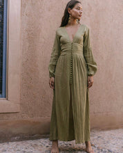 Load image into Gallery viewer, Savannah Morrow The Label Green Maxi Dress