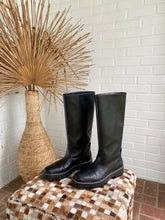 Load image into Gallery viewer, Mango Black Platform Tall Rain Boots