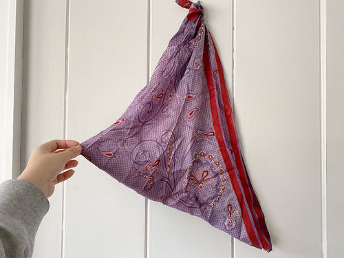 Purple Paisley Hair Scarf