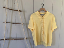 Load image into Gallery viewer, Yellow Semi Sheer Button Blouse