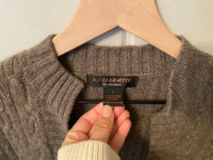 Cashmere Brown One Button Cardigan