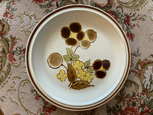 Floral Salad Plates Set of 7