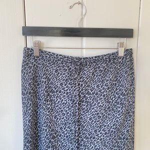 Cheetah Girls, Cheetah Sisters: A Gray Animal Print Drawstring Knee Length Skirt