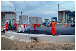 10 Ton Tank Foundation Bitumen Mix