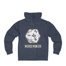 Load image into Gallery viewer, Nerd Poker d20 Zip Hoodie
