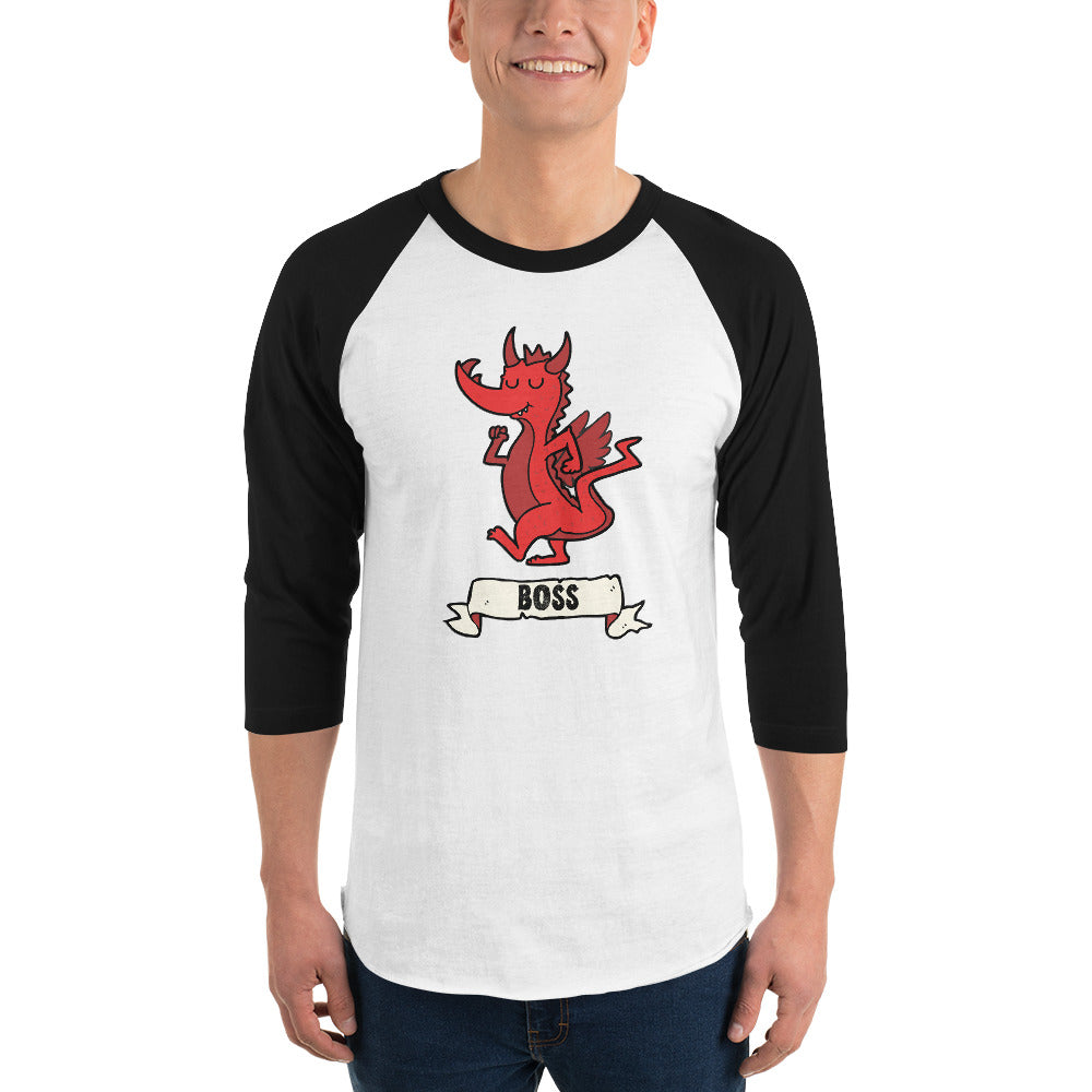Boss 3/4 Sleeve Raglan | Nerd Poker
