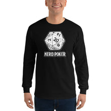 Load image into Gallery viewer, Nerd Poker D20 Long Sleeve Shirt