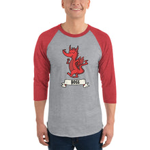 Load image into Gallery viewer, Boss 3/4 Sleeve Raglan | Nerd Poker