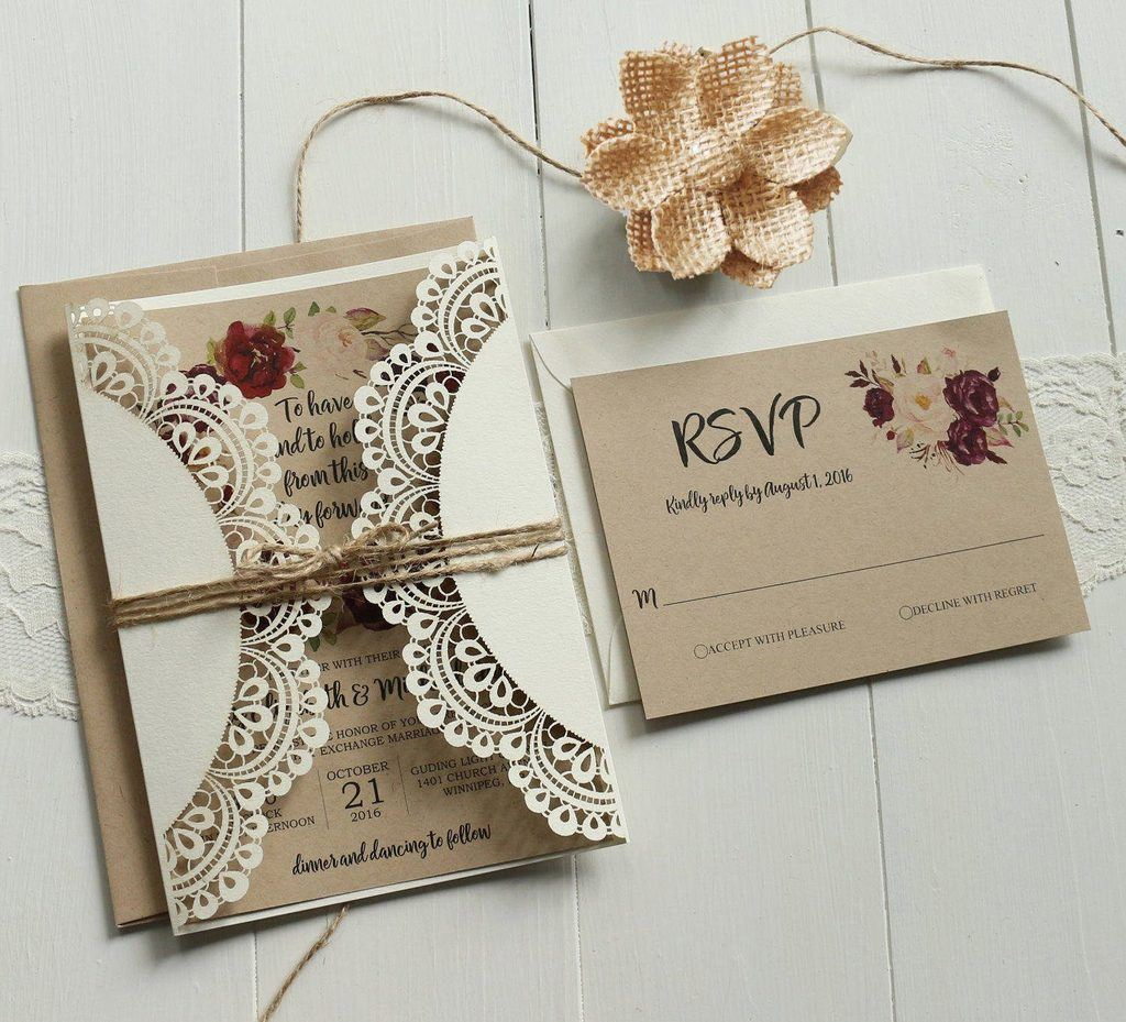 Rustic Wedding Invitations Depict A Warm Feeling And A Cozy Atmosphere.