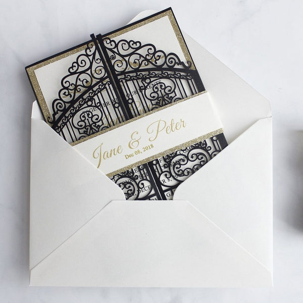 black-and-gold-wedding-invitations-laser-cut-invitations-cards