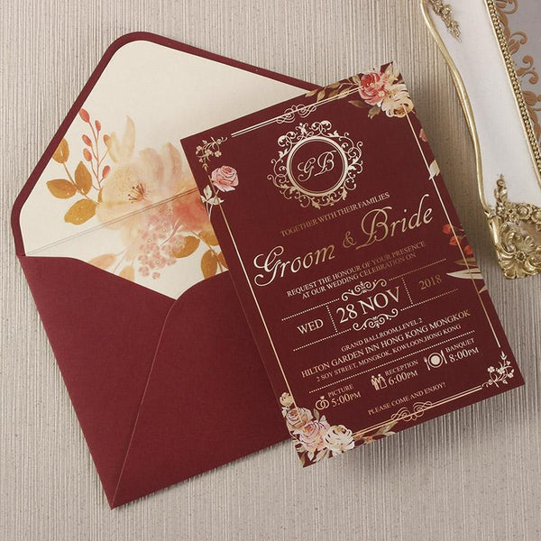 gold-invitation-cards-floral-wedding-invite-cards