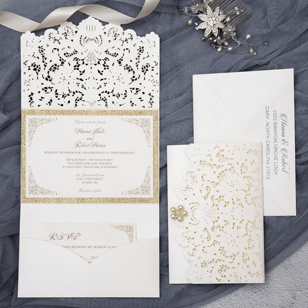elegant design wedding invitation