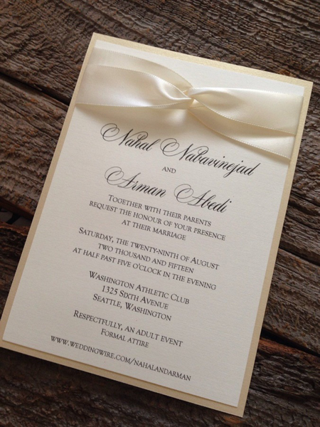 elegant wedding invitations cards