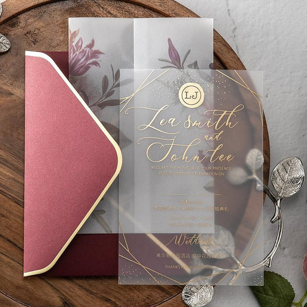 elegant weeding cards