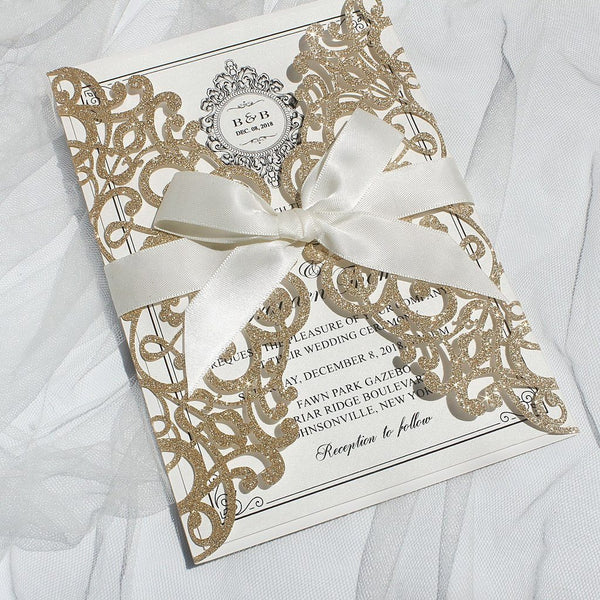 gold-invitation-cards-for-wedding bridal-cards