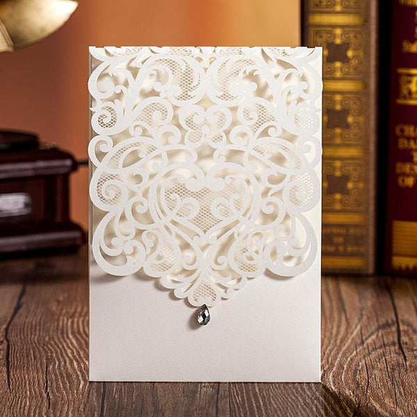 laser cut wedding invitation cards