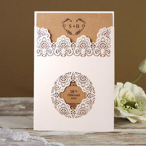 rustic wedding cards