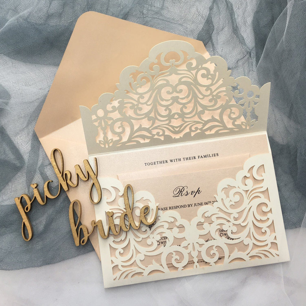 Burgundy Wedding Invitation Set Pocket Wedding Invitations With Burgundy Envelopes Picky Bride Ivory 30 x $3.5 ea.