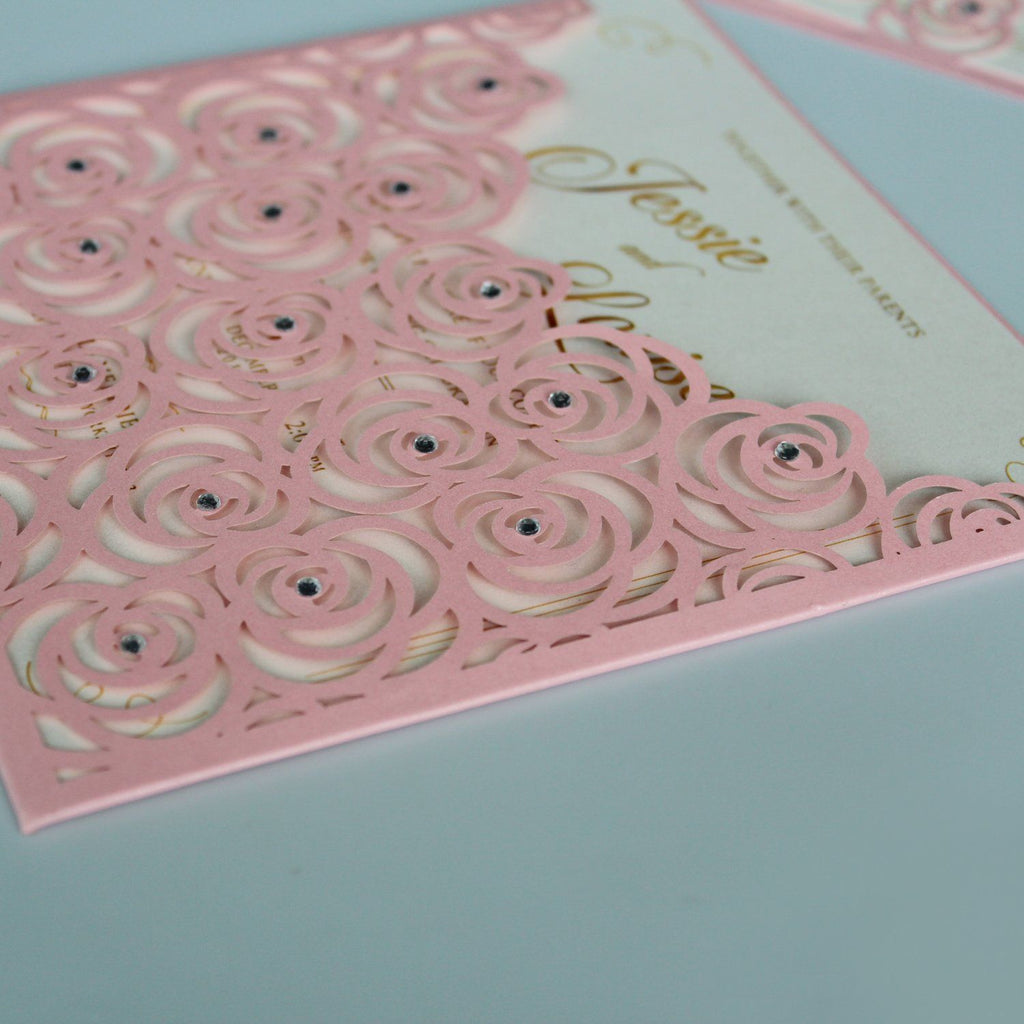 Customized Floral Wedding Invitation Cards With Envelopes and Seals Picky Bride