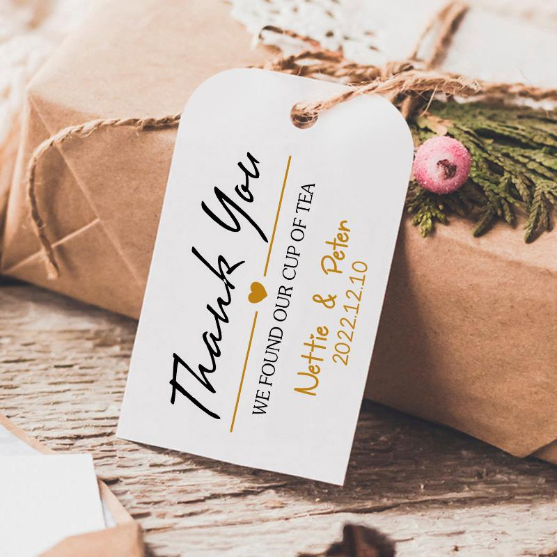 Customized Gift Tags Personalized Thank You Cards Tag Minimalist Small Business Picky Bride
