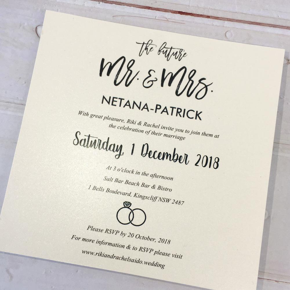 Gold Wedding Invitation, Pocket Wedding Invitation - Set of 50pcs Picky Bride
