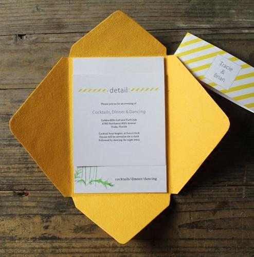 Golden Yellow Wedding Invitations Handmade Paper Cards Print Your Invite Wording Picky Bride