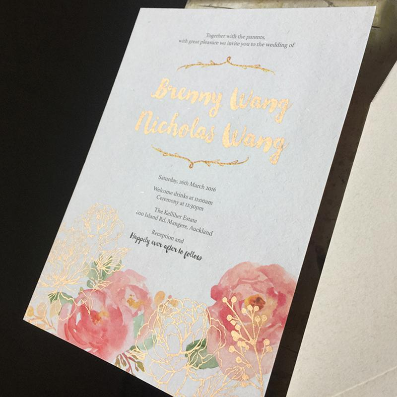 Handmade Paper Wedding Invitation Colorful Flower Cards Elegant Invitations for Spring Wedding theme Picky Bride