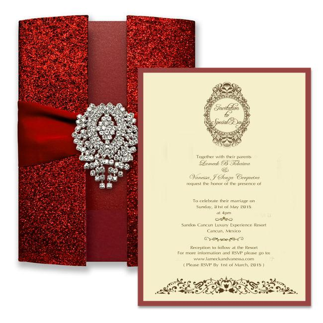Luxury Red Wedding Invitation Cards Picky Bride